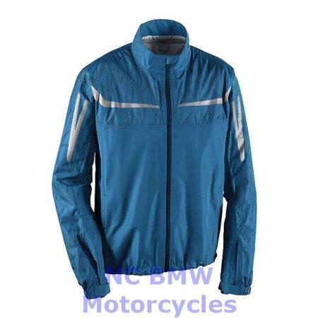 BMW Genuine Motorcycle Unisex RainLock Rain Riding Unisex Jacket Blue Size 4XL