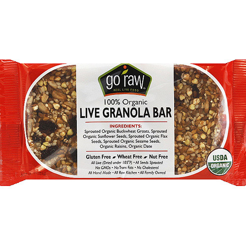 Go Raw 100% Organic Live Granola Bar, 1.8 oz, (Pack of 20)