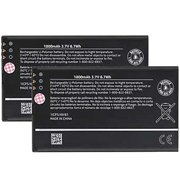 Replacement Battery for Nokia BP-4W (2 Pack)