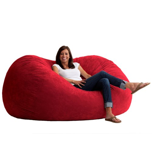 XL 6' Fuf Comfort Suede Bean Bag, Multiple Colors