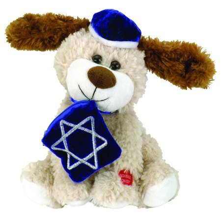 Chantilly Lane Channukah Doggy Gabriel, the Dreidel Song, Tan