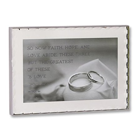 - DEMDACO Faith Hope and Love Plaque, 6.5 by 4.5-Inch