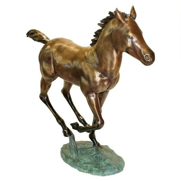 Galloping Horse Foal Cast Bronze Garden Statue Walmart Com Walmart Com