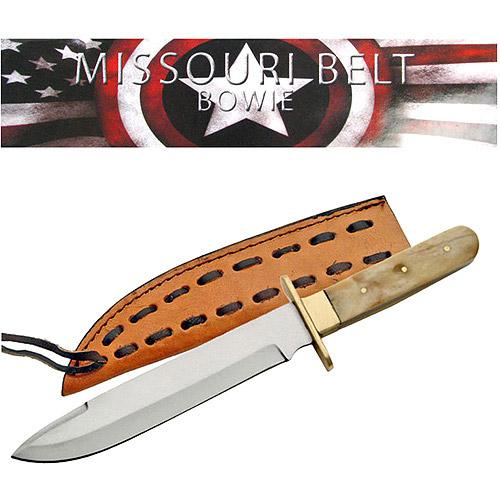 "Whetstone 11"" Missouri Brass Handle Bowie Knife"