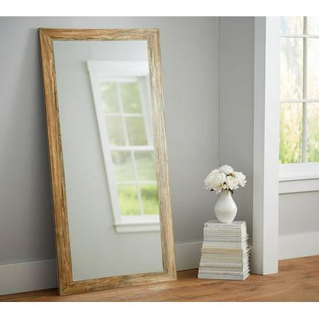 American Custom Made Rustic Farmhouse Barnwood 32 x 66 Floor Mirror ()