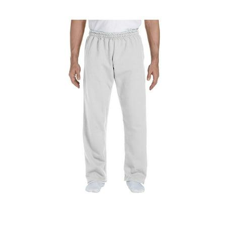 - Gildan Men's Jersey Lined Elastic Waist Open Bottom Sweatpant, Style G12300
