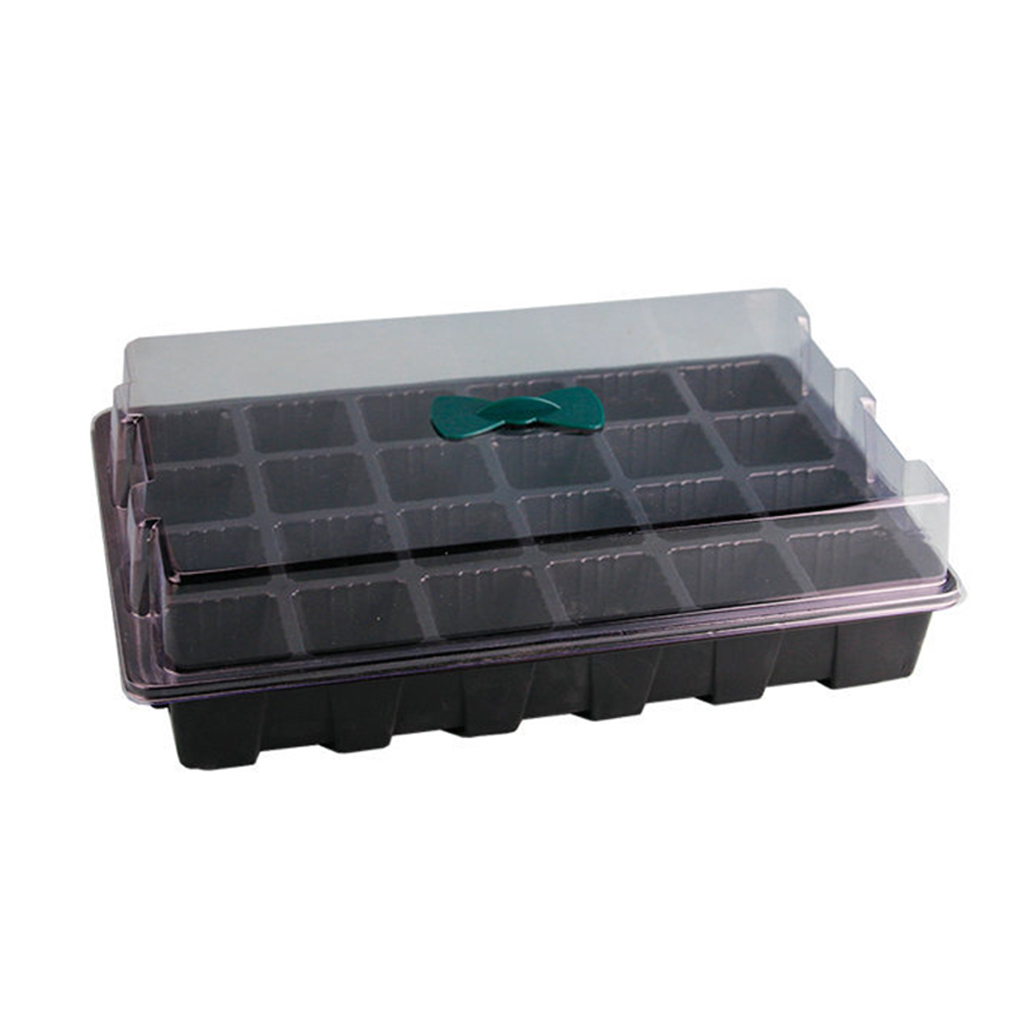 Propagation Tray 3-Piece 18.5 x 14 x 6 cm Plastic 12 Compartments Seed Tray Propagation Tray