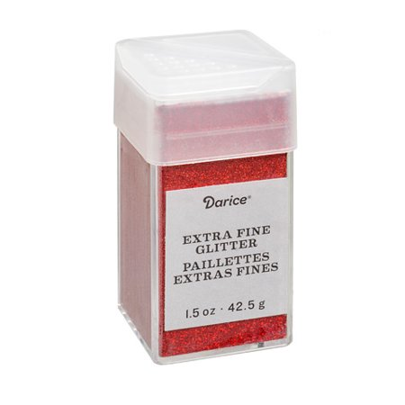 - Extra Fine Glitter: Cherry Red, 1.5 ounces