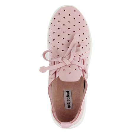 - Not Rated Womens Marlum Laser Cut Fashion Sneaker (Pink, 9.5)