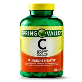 Spring Valley Vitamin C Tablets 1000 Mg 250 Ct
