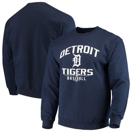 Detroit Tigers Stitches Holiday Pullover Crew Sweatshirt - Navy Detroit Tigers Youth Fleece Pullover