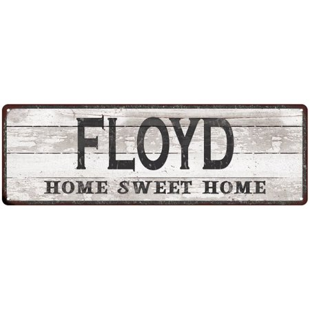 FLOYD Home Sweet Home Country Look Gloss Metal Sign 6x18 Distressed Shabby Chic Décor, Home, Game Room M61801452