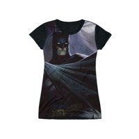 Infinite Crisis DC Comics Batman In Moonlight Juniors Black Back T-Shirt Tee
