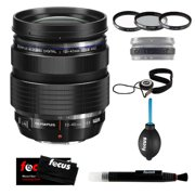 Olympus M.Zuiko Digital ED 12-40mm f/2.8 Pro Wide Angle Zoom Interchangeable Lens + Tiffen 62mm Photo Essentials Filter Kit + Accessory Kit