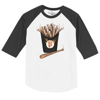 San Francisco Giants Tiny Turnip Toddler Hot Bats 3/4 Sleeve Raglan T-Shirt - White/Black