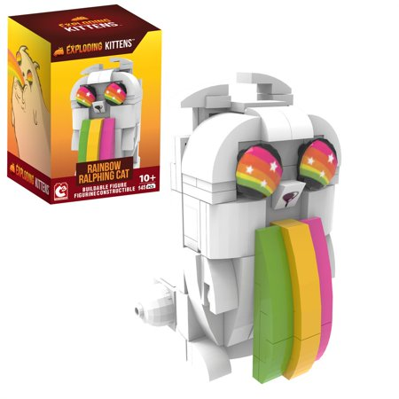 Exploding Kittens - Collector Construction - Buildable Figure - Series 1 - Rainbow-Ralphing Cat