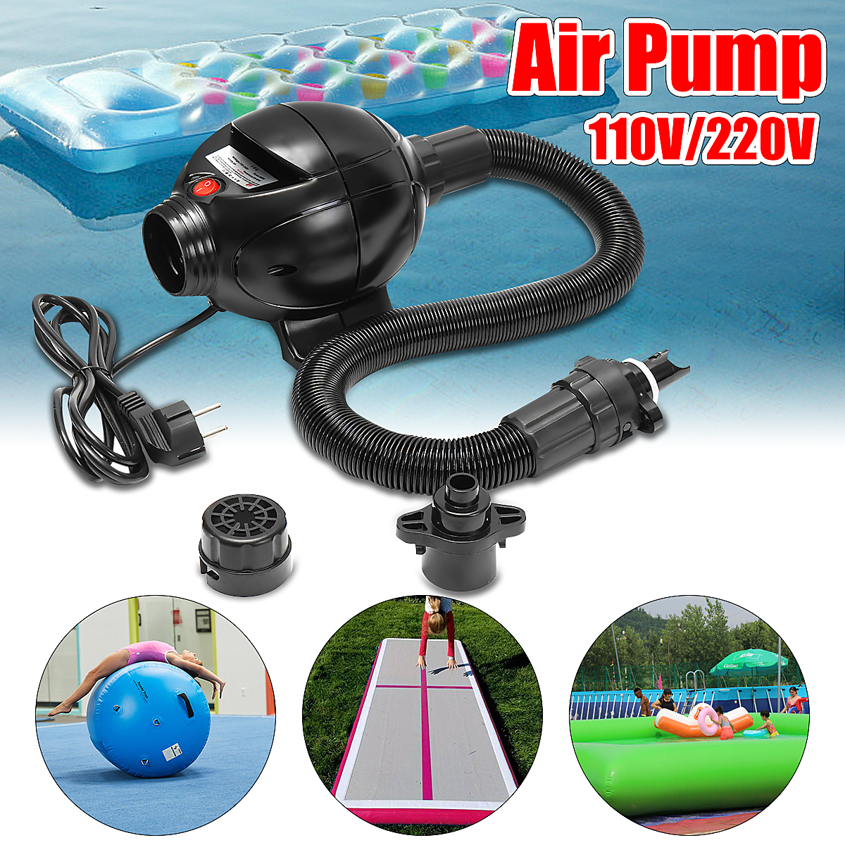 110V Electric Air Pump For Air Track Inflatable Tumbling Sporting Goods Home Gymnastics Tumbling Mat