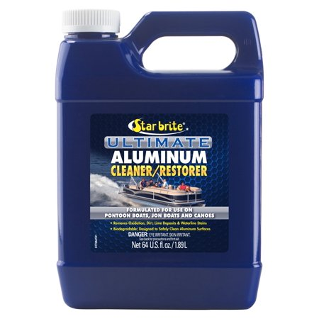 Ultimate Aluminum Cleaner & Restorer - Safely Clean Pontoon Boats, Jon Boats & Canoes Star Brite