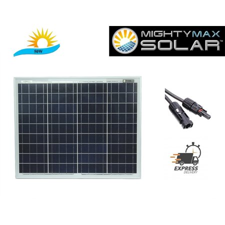 50 Watts Solar Panel 12V Poly Off Grid Battery Charger for (Best Solar Charger For Rv)