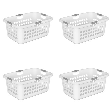 Sterilite, 2 Bushel/71 L Ultra™ Laundry Basket, White, Case of 4 ()