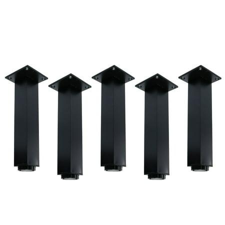 Wedgewood Blue Adjustable Legs (10 Inch Furniture Legs Aluminium Alloy Adjustable Feet Table Leg Height Replacement)
