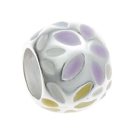 Enamel Flower Daisy - Queenberry Sterling Silver Daisy Flower Enamel European Style Bead Charm Fits Pandora