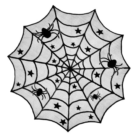 DII Halloween Lace Table Topper 40 Round, 40x40