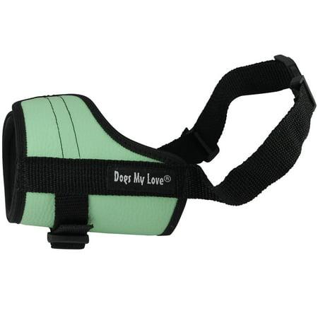 Adjustable Dog Muzzle 6 Sizes Green (M: 8