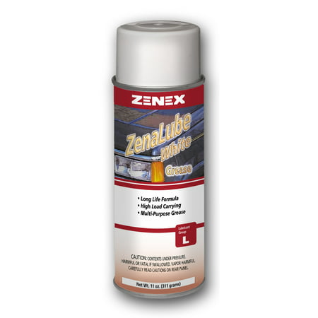 Zenex ZenaLube White Industrial White Lithium Grease Lubricant - 12 Cans (Case) | Not for sale in California