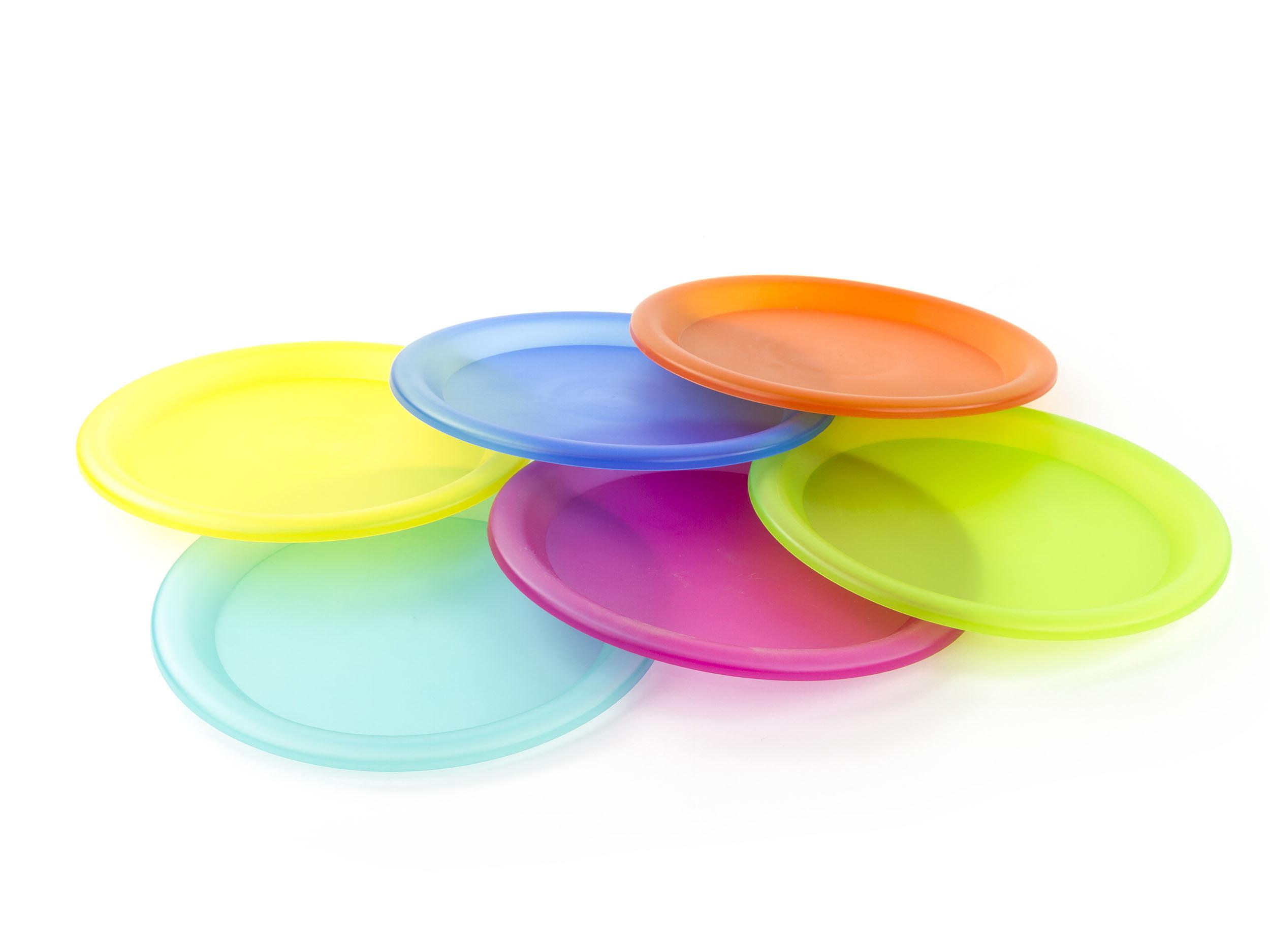 6 Pcs Colorful Plastic Plates Reusable Plastic Party Plates - Walmart.com  sc 1 st  Walmart.com & 6 Pcs Colorful Plastic Plates Reusable Plastic Party Plates ...