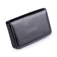 Business card holders name plates walmart hde faux leather case business card holder wallet organizer with magnetic flap black colourmoves