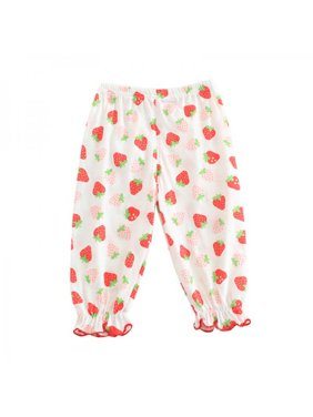 Lavaport Toddler Summer Anti-Mosquito Fruit Print Cute Pants