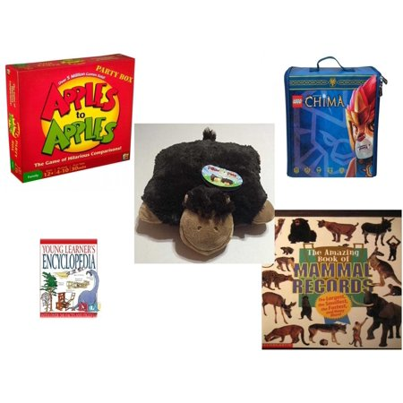 Children's Gift Bundle [5 Piece] -  Apples to Apples Party Box - The  of Crazy Combinations (Family Edition) - Neat-Oh! LEGO Chima ZipBin Battle Case  - Pillow Pet Pee Wee Monkey 11