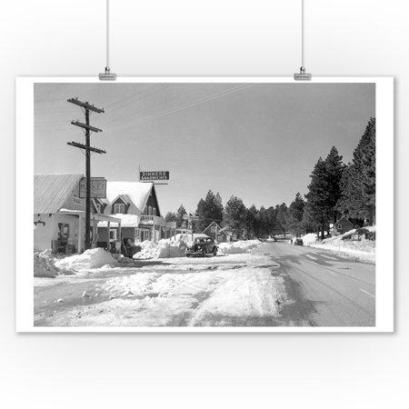 Rim of the World Highway, CA San Bernardino Mnts Photograph (9x12 Art Print, Wall Decor Travel
