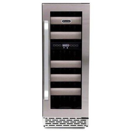 Whynter Elite 17 Bottle Seamless Stainless Steel Door Dual Zone Refrigerator