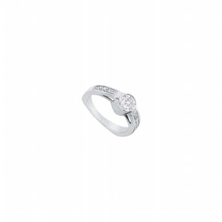 (Fine Jewelry Vault UBJ2596PTD-101RS8 Diamond Engagement Ring Platinum, 1.00 CT - Size 8)