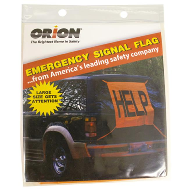 Orion Safety Products 458 2. 5 x 2. 5 Orange Emergency Signal Flag