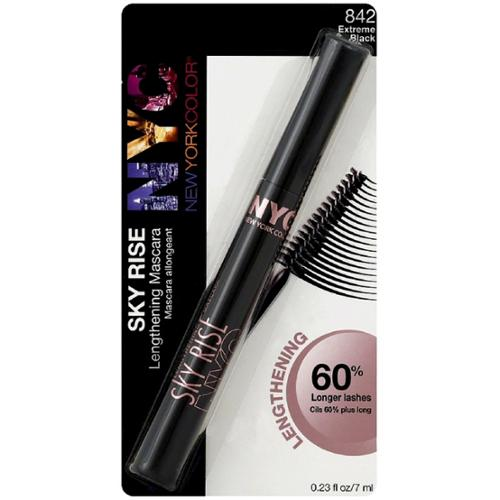 New York Color Sky Rise Lengthening Mascara, Extreme Black [842] 0.23 oz (Pack of 3)