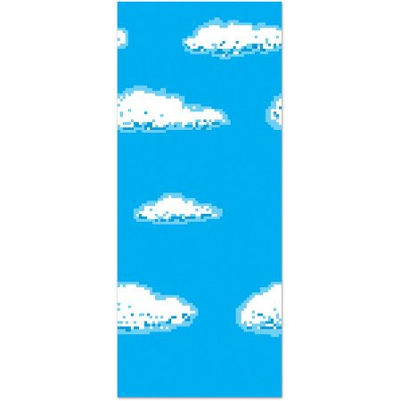 4' x 30' Sky 8-Bit Backdrop Scene Setter Wall Decal Halloween Decoration - Halloween Wall Decorations