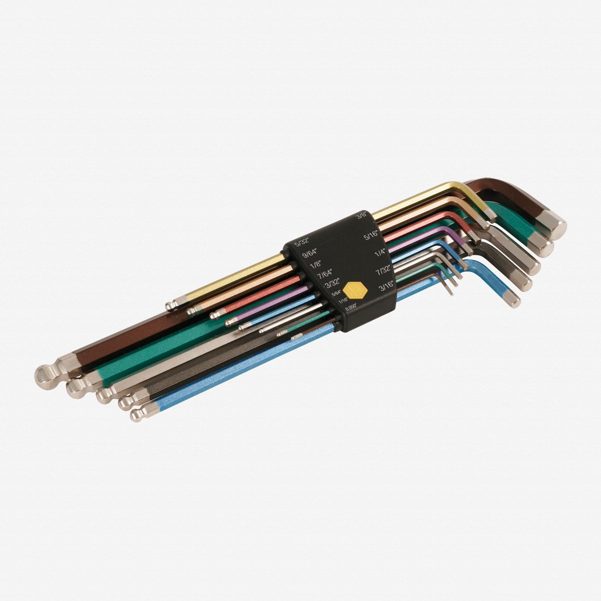 Wiha 36986 Color Coded 13 Piece Ball End Hex L-Key SAE Set
