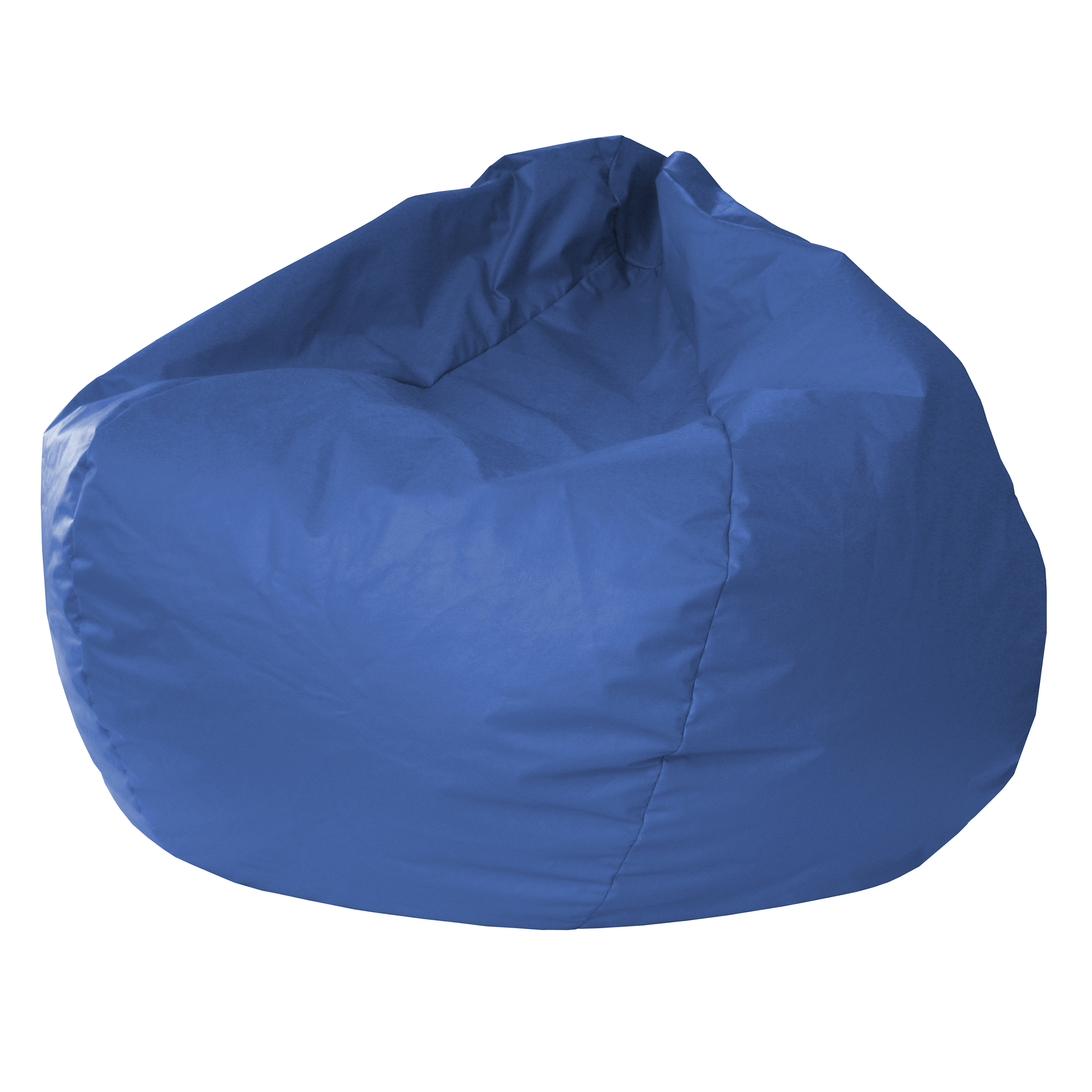 "Gold Medal Extra Large 140"" Blue Faux Leather Bean Bag"
