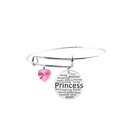 Adjustable Bangle with Crystals from Swarovski - Princess