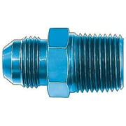 Aeroquip FBM2006 Male AN To Pipe Adapter; -08AN Male; 1/4 in. Pipe Size; Aluminum; Blue Anodized; Bulk Packaged;