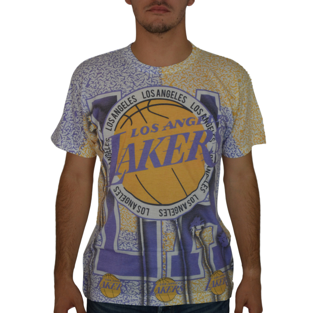 NBA Los Angeles Lakers Men's White T-shirt NEW Sizes XS-M