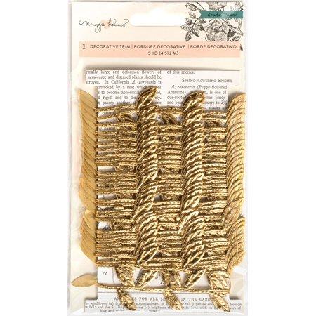 Maggie Holmes Flourish Decorative Trim 6 Yards-Gold Vine W/Leaves