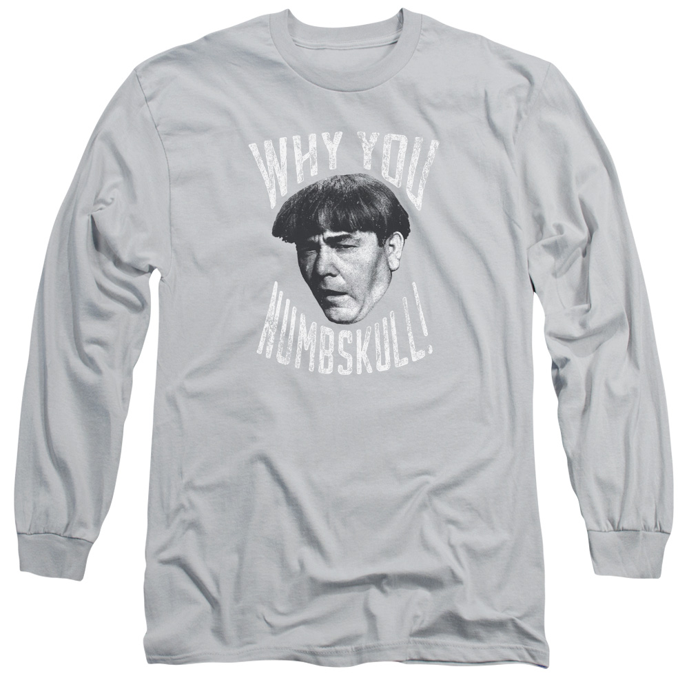 THREE STOOGES/NUMBSKULL-L/S ADULT 18/1-SILVER-2X
