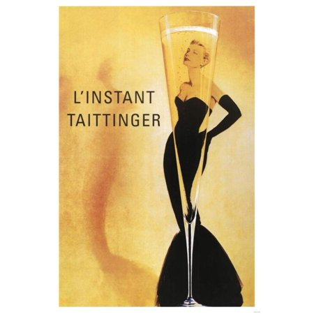 (24x36) L'Instant Taittinger (Grace Kelly Champagne Ad) Art Poster Print, decorate your walls with this brand new poster By Poster (Linstant Taittinger Champagne)