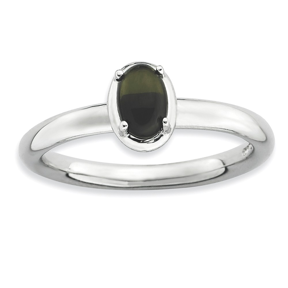 ICE CARATS 925 Sterling Silver Black Onyx Band Ring Size 9.00 Stone Stackable Gemstone Natural Fine Jewelry Ideal Gifts For Women Gift Set From Heart