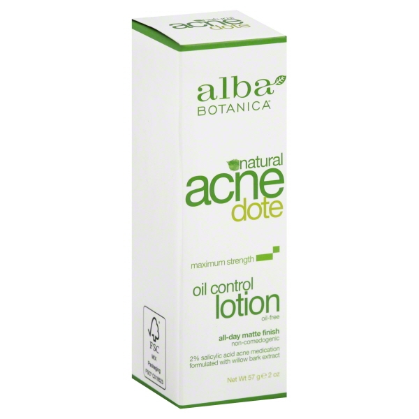 Alba Botanica Acnedote, Oil Control Lotion, 2 Ounce [] Eos Evolution of Smooth - Lip Balm Stick Strawberry Sorbet - 2 Pack (pack of 12)