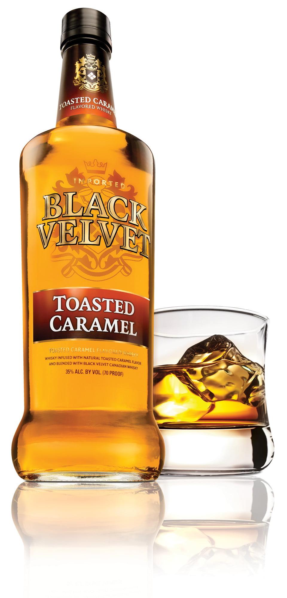 Black Velvet Toasted Caramel Canadian Whisky, 750 mL Bottle, 70 ...